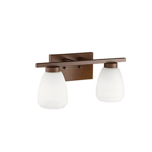 Rubbed Bronze Two-Light Vanity