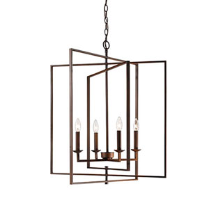 Rubbed Bronze 16-Inch Four-Light Pendant