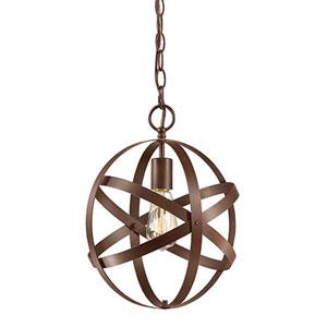 Rubbed Bronze One-Light Globe Pendant