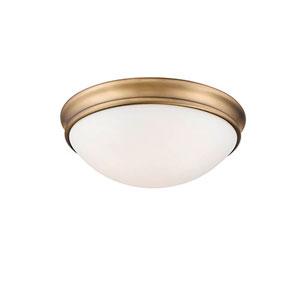 Heirloom Bronze Two-Light Flush Mount