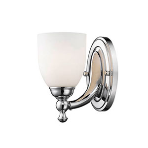 Chrome One-Light Wall Sconce