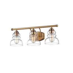 Brighton Heriloom Bronze Three-Light Vanity