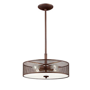Akron Rubbed Bronze Four-Light Pendant
