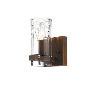 Tulsa Rubbed Bronze One-Light Wall Sconce