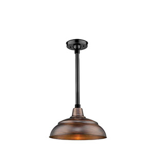 R Series Natural Copper 14-Inch One-Light Outdoor Warehouse Shade Only