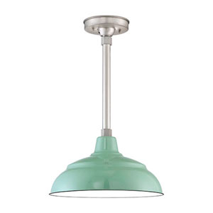 R Series Seafoam Porcelain 14-Inch One-Light Outdoor Warehouse Shade Only