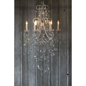Mirabelle Champagne Six-Light Chandelier