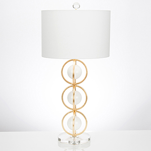 Anderson High Gloss White and Gold Leaf One-Light Table Lamp