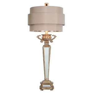 Art Deco 33-Inch Mirrored Table Lamp