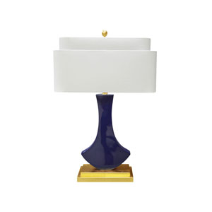 Golden Glamour High Gloss Indigo 11-Inch Bellaria Table Lamp