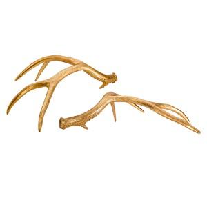 Golden Glamour Golden Antlers, Set of 2