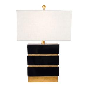 Golden Glamour Gloss Black 24-Inch High San Simeon Table Lamp