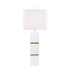 Graphic Appeal Glossy White Lacquer One Light Table Lamp