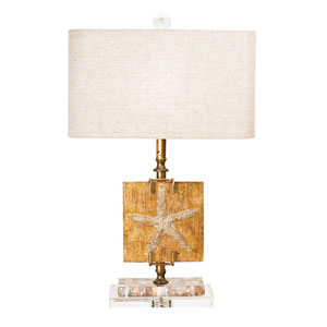 Coastal Retreat India Gold One Light Table Lamp
