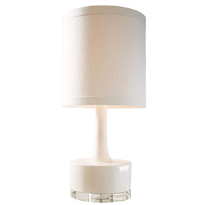 Graphic Appeal High Glossy Cream One Light Table Lamp