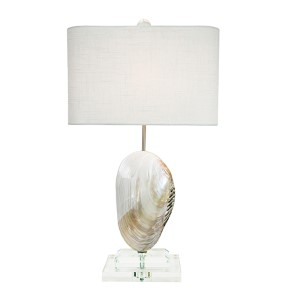 Coastal Retreat Pearl 25.5-Inch High Oceanside Table Lamp