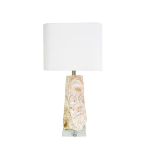 Coastal Retreat Natural Capiz Shell 6-Inch Del Mar Table Lamp
