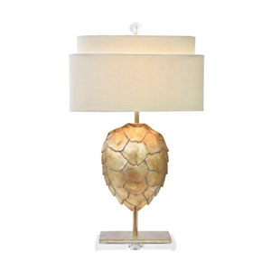 Silver One-Light Tortoise Table Lamp 30-Inch