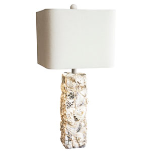 Coastal Retreat Natural Oyster Shell 5-Inch Pardise Shell Table Lamp