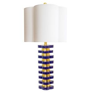 Golden Glamour High Gloss Indigo 6-Inch Quatrefoil Lamp