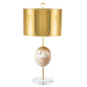 Coastal Retreat Pink Abalone Shell One-Light Energy Star Table Lamp