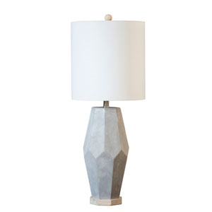 Coastal Retreat Natural Cement One-Light Energy Star Table Lamp