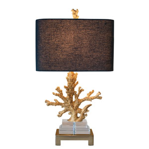 Coastal Retreat Gilt Gold One Light Table Lamp
