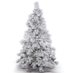 Flocked Alberta Green Artificial Unlit Tree