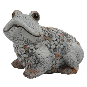 Gray Outdoor Garden Frog Figurine