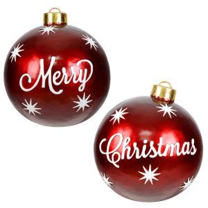 Merry Christmas GIANT Red Seasonal Yard Ornaments, Set of 2