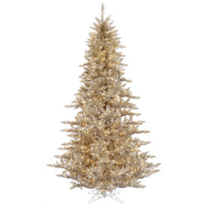 Champagne DuraLit Yellow Artificial Pre-lit Tree