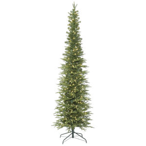Bixley Pencil Green Artificial Pre-lit Tree