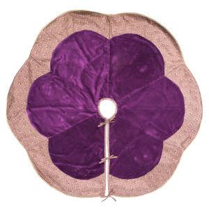 Baroque Purple 60-Inch Tree Skirt with Luxurious Cotton Velvet Fabric