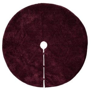 Christmas Eve Purple 60-Inch Tree Skirt with Luxurious Cotton Velvet Fabric