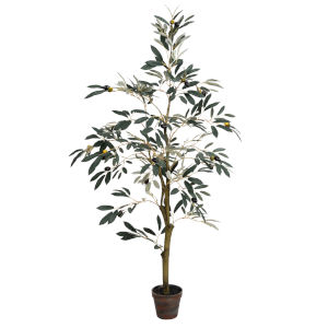 Green 4-Feet Potted Olive Tree with 408 Leaves