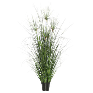 Green 36-Inch Brushed Grass in Pot