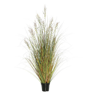 Green and Brown 36-Inch Grass in Pot