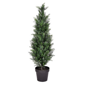 Green 3-Feet Potted Cedar Tree with UV Resistant