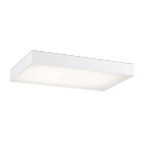 Mac White 25-Inch LED Flush Mount