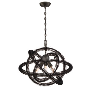 Orbita Vintage Bronze Three-Light Chandelier