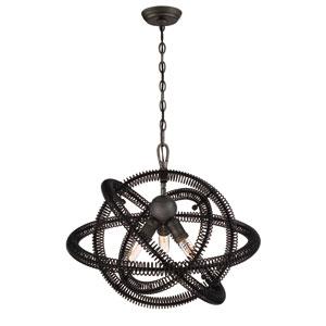 Orbita Vintage Bronze Three-Light Chandelier