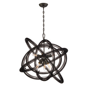 Orbita Vintage Bronze Six-Light Chandelier