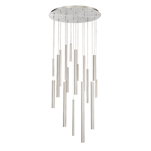 Santana Satin Nickel 24-Inch LED Chandelier