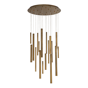 Santana Antique Brass Gold 24-Inch LED Chandelier