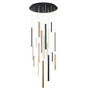Santana Metal 18-Light 24-Inch LED Cluster Chandelier
