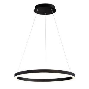 Spunto Matte Black One-Light 27-Inch LED Chandelier