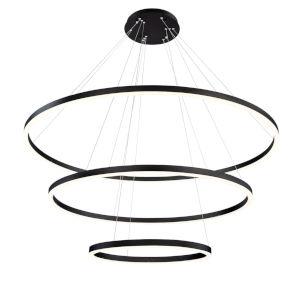 Spunto Matte Black Three-Light LED Chandelier