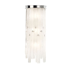 Candice Chrome Three-Light Wall Sconce