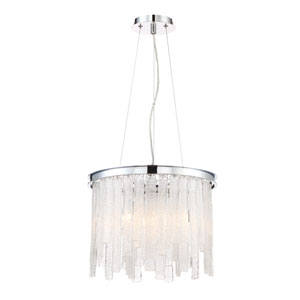 Candice Chrome Six-Light Chandelier