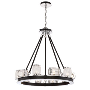 Barile Chrome 10-Light Chandelier